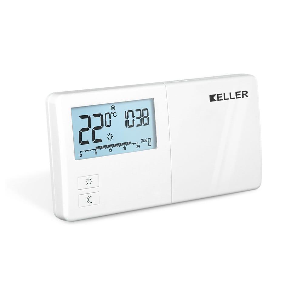 Regulator temperatury, przewodowy, tygodniowo programowalny KELLER NEW